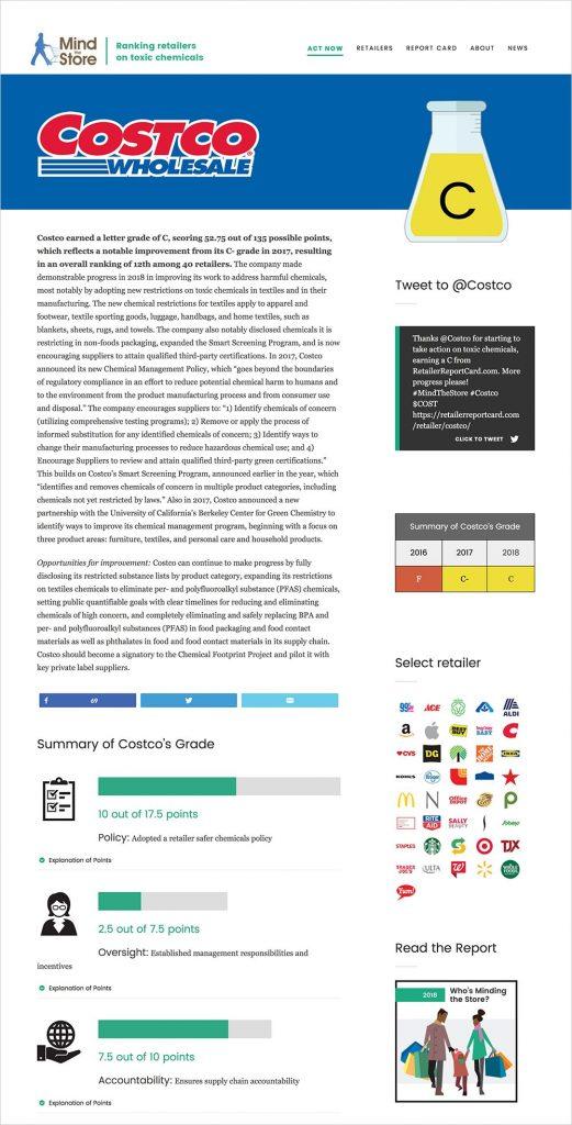 Report Card website