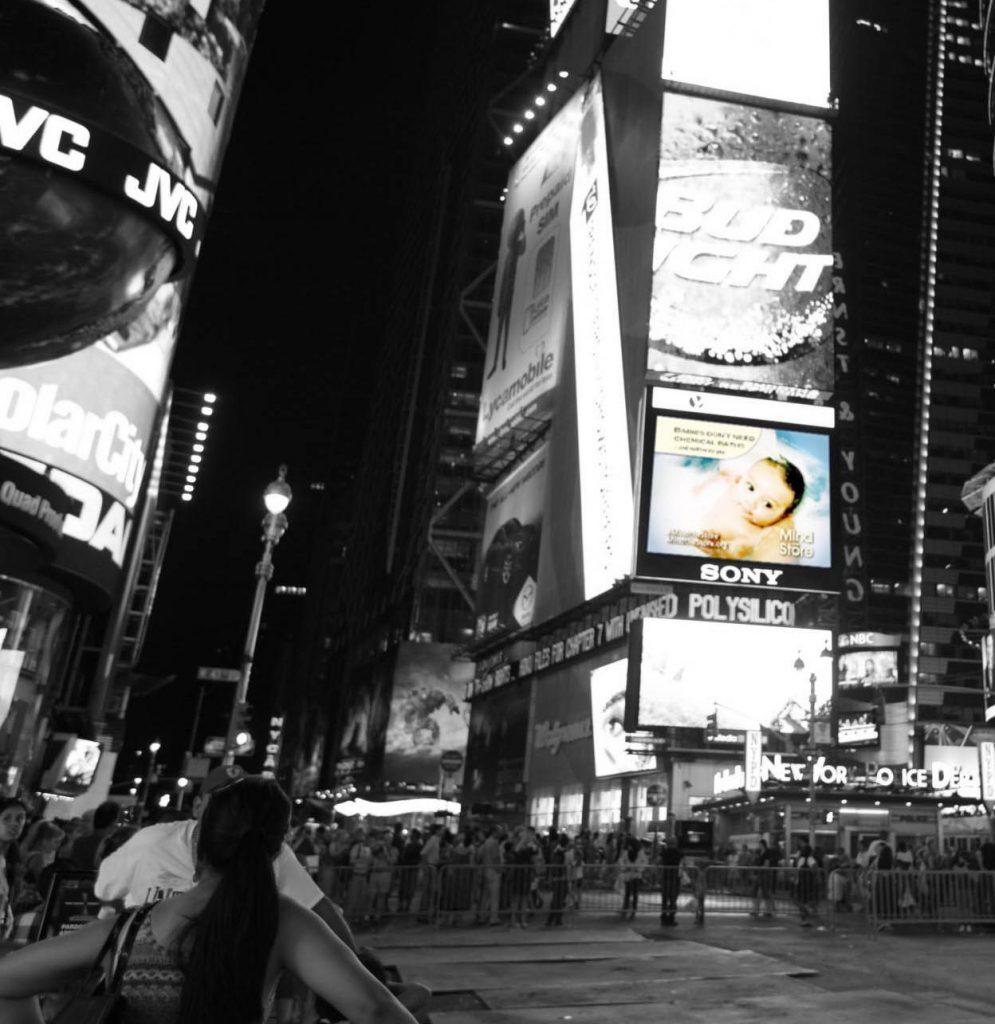 Times Square jumbotron ad